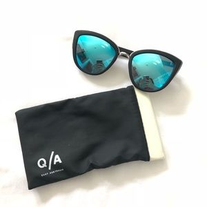 Quay Australia My Girl Blue Cat Eye Sunglasses